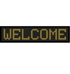 Yellow button board word welcome vector