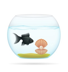 aquarium with fish 04 vector image
