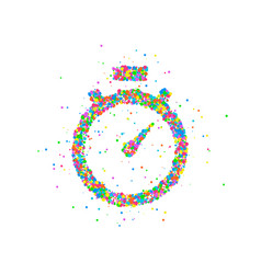Abstract stopwatch splash vector