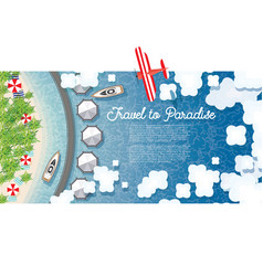 Maldives summer background with tropical beach vector