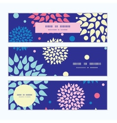 Colorful bursts horizontal banners set pattern vector