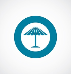 Parasol mask icon bold blue circle border vector