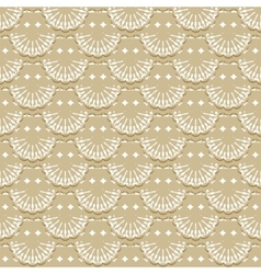 Seamless pattern of fabric lace ribbons vector