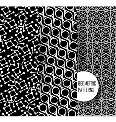 Geometric pattern in op art design black and vector