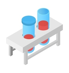 Test tube isometric 3d icon vector