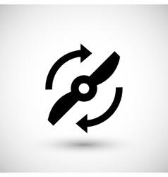 Propeller symbol icon vector