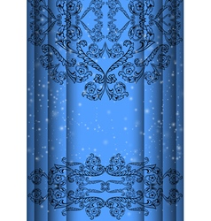 Abstract floral ornament background vector image