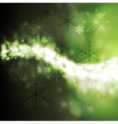 Abstract green iridescent xmas background vector