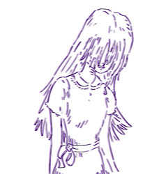 art girl draw vector image
