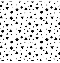 Black and white vintage geometric shapes vector