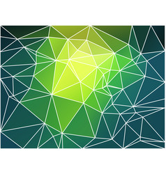 Bright yellow green geometric background with mesh vector