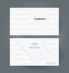 business card design with poligonal mosaic pattern vector image