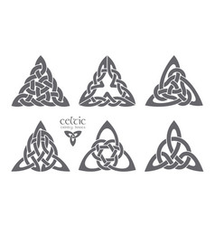 celtic trinity knot part 2 ethnic ornament vector image vector image