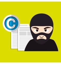 confidencial segurity information doc vector image