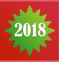 creative happy new year 2018 design card on modern vector image