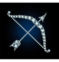 Diamond bow and arrow vector