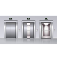 Elevators Realistic Composition vector image