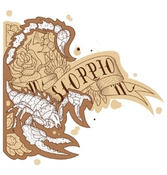 Engraving scorpion vector image vector image