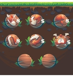 Feed the fox gui match 3 game user interface vector