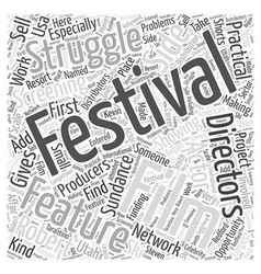 film festivals Word Cloud Concept vector image vector image