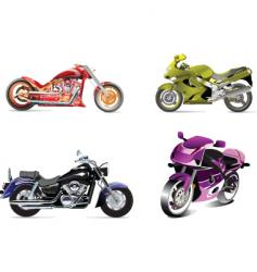 four bikes vector image vector image