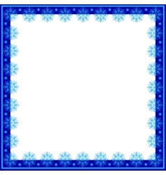 Frame of snowflakes vector