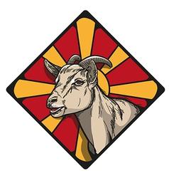 Goat icon vector