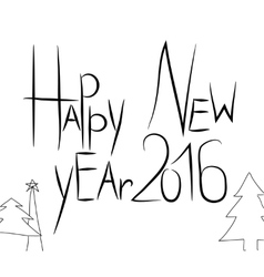 hand draw black text vector image vector image