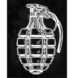 Hand drawn design of an army manual grenade vector image vector image