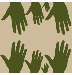 hand to hand vector image