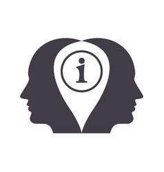 information concept icon vector image vector image