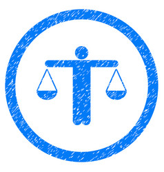 Lawyer rounded grainy icon vector