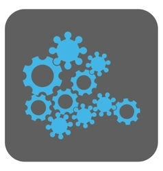 Mechanics gears rounded square icon vector