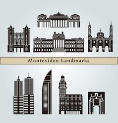 montevideo landmarks vector image vector image