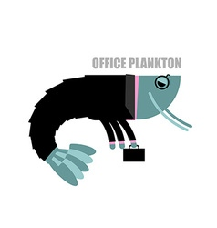 Office plankton Shrimp in business suit and vector image vector image