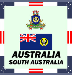 Official government elements of australia - south vector