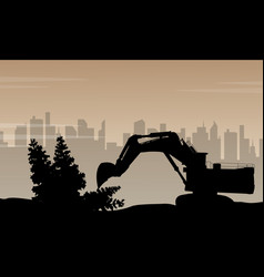 Pollution comes from factory background vector