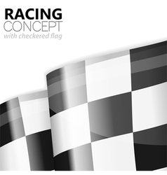 Racing Checkered Flag Finish vector image vector image