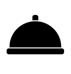 restaurant platter icon vector image