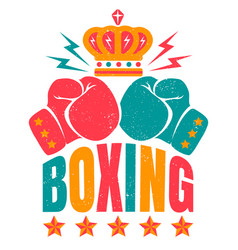Sport logo for boxing vector