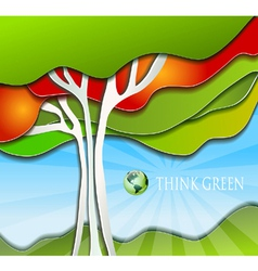 Stylized simple nature background vector image vector image