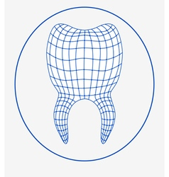 Tooth 3d logo vector