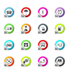 Travel icons set vector