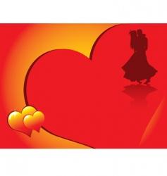 valentines dancing vector image vector image