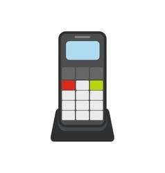Wireless phone flat icon vector