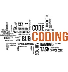 word cloud coding vector image vector image