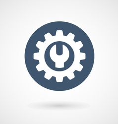 Wrench spanner and cogwheel - service icon vector image vector image