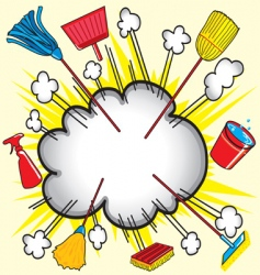 Cleaning cloud vector