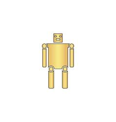robot computer symbol vector image