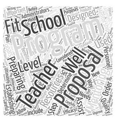 Proposal for teacher mentoring program word cloud vector